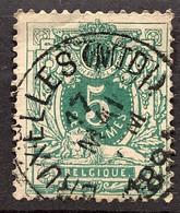 Liggende Leeuw OBP 45 Gestempeld EC BRUXELLES MIDI - 1869-1888 Lying Lion