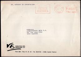 Argentina - 1989 - Lettre - Cachet Spécial - Affranchissement Mécanique - Bandeleta Parlante - A1RR2 - Cartas