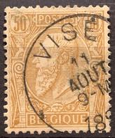 Leopold II OBP 50 Gestempeld EC VISE - 1884-1891 Leopoldo II