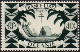 Océanie N° N° 159 - Série De Londres - Le 40c Gris-vert - Unused Stamps