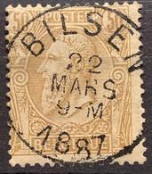 Leopold II OBP 50 Gestempeld EC BILSEN - 1884-1891 Leopoldo II