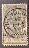 Wapenschild OBP 53 Gestempeld EC ARENDONCK - 1893-1907 Armarios