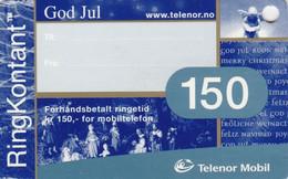 Norway, TEL-MOB-031, Telenor 150 God Jul, Christmas, 2 Scans. - Noruega
