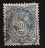 1890 Freimarken Mi NO 46c Sn NO 44d Fac NO 54c Nor NO 54IIct1 Preußischblau - Used Stamps