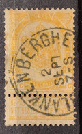 Wapenschild OBP 54 Gestempeld EC BLANKENBERGHE - 1893-1907 Armoiries