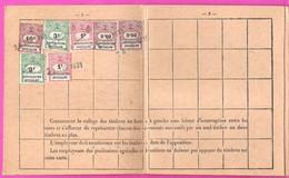 Carte Annuelle De Cotisations Assurance Vieillesse Pour 1930 Avec Timbres Assurances Sociales Retraites Ouvrières - Historische Documenten