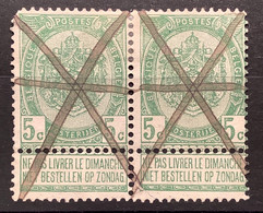 Wapenschild OBP 56 Gestempeld Annulatie A La Plume - 1893-1907 Armoiries