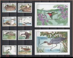 Grenada Grenadines 1988 Birds Set+2s/s MNH - Sin Clasificación