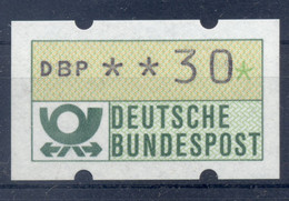 Allemagne  1981 - Michel N. 1.1.h.u - Timbre De Distributeur 30 Pf. (Y & T N. 1) - Distribuidores
