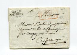 !!! MARQUE POSTALE PORT PAYE D'AVESNES SUR LETTRE DE 1819 AVEC TEXTE - 1801-1848: Précurseurs XIX