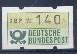 Allemagne  1981 - Michel N. 1.1.h.u - Timbre De Distributeur 140 Pf. (Y & T N. 1) - Distribuidores