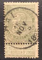 Leopold II Fijne Baard  OBP 59 Gestempeld EC HAL - 1893-1900 Barbas Cortas