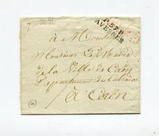 !!! MARQUE POSTALE PORT PAYE D'AVESNES SUR LETTRE SANS TEXTE - 1801-1848: Précurseurs XIX