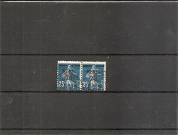 Mémel ( 20 En Paire Oblitéré - Curiosité: Piquage à Cheval à Voir) - Used Stamps