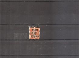 Mémel ( 21 Oblitéré - Curiosité: Surcharge Déplacée Vers Le Haut à Voir) - Used Stamps