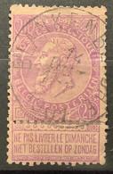 Leopold II Fijne Baard OBP 66 Gestempeld EC BLANKENBERGHE - 1893-1900 Barbas Cortas