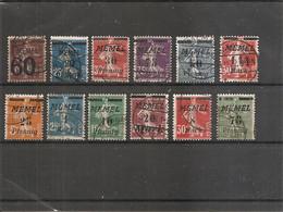 Mémel ( Lot De Timbres Divers Différents Oblitérés) - Used Stamps