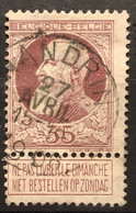 Leopold II Grove Baard OBP 77 Gestempeld EC NANDRIN - 1905 Barba Grossa