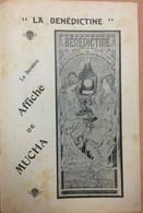 Publicité Pour La Boisson LA BÉNÉDICTINE. Dessin De MUCHA. 16 X 24 Cm - Pubblicitari