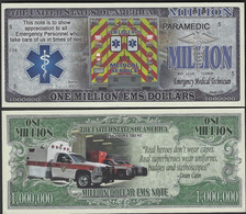 !!! USA - FANTASY NOTE -  EMERGENCY  MEDICAL  SERVICE  , 2020 - UNC - Other