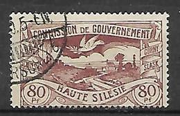 HAUTE SILESIE    -    1921 .   Y&T N° 43 Oblitéré - Silesia (Lower And Upper)