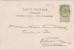 N° 56 Relais * Overpelt * Sterstempel 1905 - Zichtkaart Neerpelt - 1893-1907 Armoiries