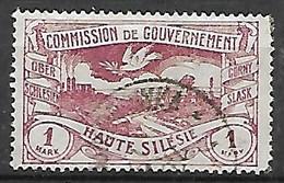 HAUTE SILESIE    -    1921 .   Y&T N° 44 Oblitéré - Silesia (Lower And Upper)