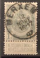 Wapenschild OBP 81 Gestempeld EC MERXEM - 1893-1907 Armoiries