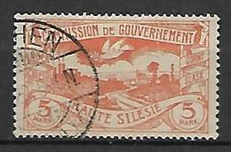 HAUTE SILESIE    -    1921 .   Y&T N° 47 Oblitéré - Silesia (Lower And Upper)
