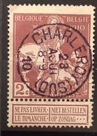 Caritas OBP 89 Gestempeld EC CHARLEROY SUD - 1910-1911 Caritas