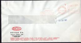 Argentina - 1989 - Lettre - Cachet Spécial - Affranchissement Mécanique - Ducilo SA - A1RR2 - Cartas