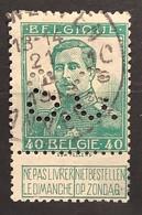 Pellens OBP 114 Gestempeld Met Firmaperforatie / Perfin S.O. - 1912 Pellens