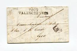 !!! MARQUE POSTALE PORT PAYE DE VALENCIENNES SUR LETTRE DE 1826 AVEC TEXTE - 1801-1848: Précurseurs XIX