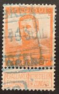 Pellens OBP 116 Gestempeld MET SPOORWEGSTEMPEL - 1912 Pellens