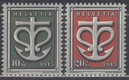 SCHWEIZ  443-444,  Postfrisch **, Kriegsgeschädigtenspende 1945 - Unused Stamps