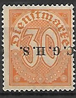 HAUTE SILESIE    -   Service   -   1920 .   Y&T N° 12 * .  Surcharge Renversée - Silesia (Lower And Upper)