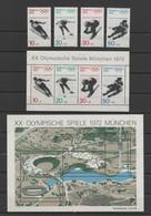 ALLEMAGNE -Jeux Olympiques 1972 - Yvert  544 à 547 / 544A à 547A (bloc 5) / 580 à 583 (bloc 6) - Sin Clasificación