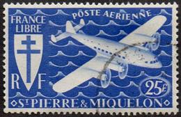 Saint Pierre Et Miquelon Obl. N° PA   8 - Avion, Lockheed Constellation, Survolant La Mer (série De Londres) - Timbres-taxe