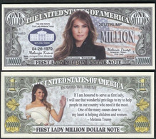 !!! USA - FANTASY NOTE -  MELANIA  TRUMP , FIRST  LADY  , 2017 - UNC - Other