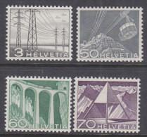 SCHWEIZ 529, 538-540, Postfrisch **, Landschaften Und Technische Motive 1949 - Unused Stamps