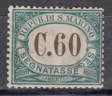 San Marino, 0,60 C, Portomarke, MiNr. 5, Ungebraucht - Unused Stamps