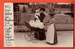 ZKA-36 Carte-Photo Nurse Maman Et Bébé Envoyée De Nice à La Propriétaire De L'Hôtel Du Pont Interlaken - BE Bern