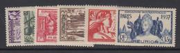 Reunion, Scott 167-172 (Yvert 149-154), MHR - Unused Stamps