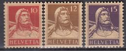 SCHWEIZ  118-120, Postfrisch **, Tell, 1914 - Unused Stamps