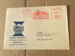 K16 BRD 1957 Brief Mit Afs Von Bonn Kaffee - Lettres & Documents