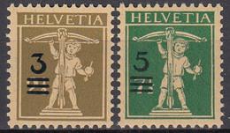 SCHWEIZ  239-240, Postfrisch **, Tellknabe Mit Aufdruck, 1930 - Unused Stamps