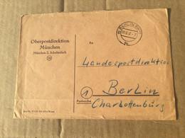 K16 BRD 1957 Brief Der OPD München Nach Berlin - Lettres & Documents