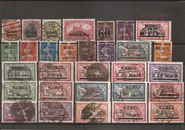 Mémel ( Lot De Timbres Divers Oblitérés) - Used Stamps