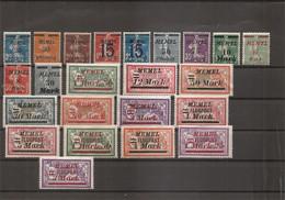 Mémel ( Lot De Timbres Divers  X -MH) - Unused Stamps