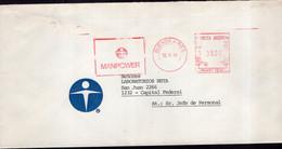 Argentina - 1989 - Lettre - Cachet Spécial - Affranchissement Mécanique - Manpower - A1RR2 - Cartas